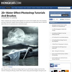 25+ Water Effect Photoshop Tutorials and Brushes