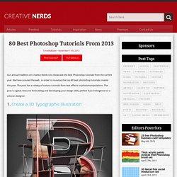 80 best Photoshop tutorials from 2013