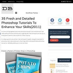 35 Fresh and Detailed Photoshop Tutorials To Enhance Your Skills(2011)