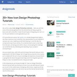 20+ New Icon Design Photoshop Tutorials