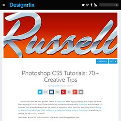 Photoshop CS5 Tutorials: 70+ Creative Tips