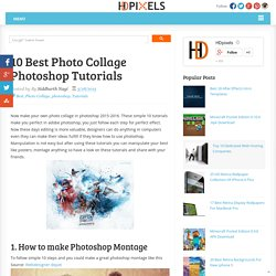 10 Best Photo Collage Photoshop Tutorials