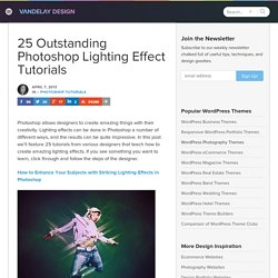 40 Photoshop Tutorials for Lighting and Abstract Effects | Vandelay Design Blog