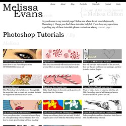 Photoshop Tutorials at Melissa Clifton.