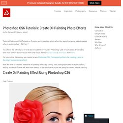Photoshop CS6 Tutorials: Create Oil Painting Photo Effects