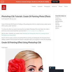 Photoshop CS6 Tutorials: Create Oil Painting Photo Effects