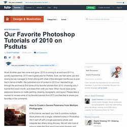 Best Photoshop Tutorials of 2010