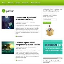 PSDFAN - Adobe Photoshop Tutorials, Design Articles and Resources