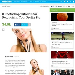 8 Photoshop Tutorials for Retouching Your Profile Pic