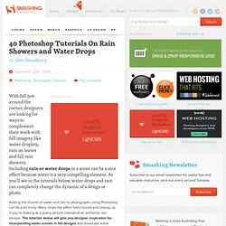 40 Photoshop Tutorials On Rain Showers and Water Drops | Tutorials
