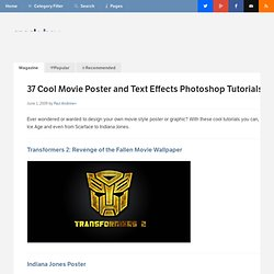 37 Cool Movie Poster and Text Effects Photoshop Tutorials
