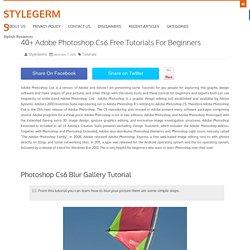40+ Adobe Photoshop Cs6 Free Tutorials For Beginners