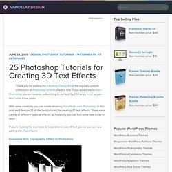 Photoshop 3D Text Effects Tutorials