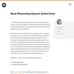 Best Photoshop Export Action Ever | Uncorked Studios