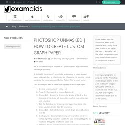 How to create custom graph paper - Examaids Ltd