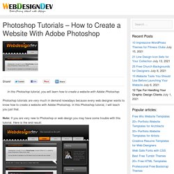 Photoshop Web Design Tutorial