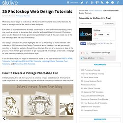 25 Photoshop Web Design Tutorials