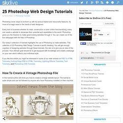 25 Photoshop Web Design Tutorials