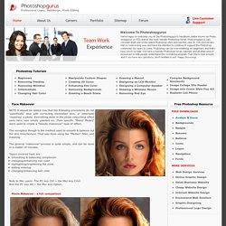 Photoshopgurus Photoshop Tutorials - Face Makeover