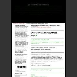 La photosynthèse ou comment agit la chlorophylle (page 3) · La semence de curieux