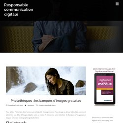 Photothèques : les banques d'images gratuites