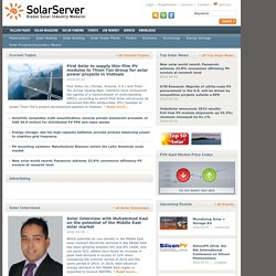Startpage | Solar Server - phototovoltaics, solar heating, solar power