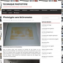 sans bichromates - Technique Phototypie