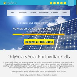 Photovoltaic Solar Panel Systems
