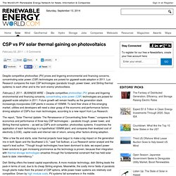 CSP vs PV solar thermal gaining on photovoltaics - ElectroIQ