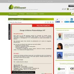 Chargé d'Affaires Photovoltaïque H/F PAGE PERSONNEL - Offre d'emploi BTP, génie civil, Solaire, Commercial