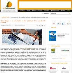 21/12/10 Photovoltaïque : la concertation révèle l'existence d'une seconde file d'attente