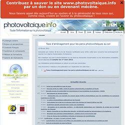 Actualité photovoltaique