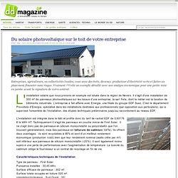 Du solaire photovoltaïque sur le toit de votre entreprise