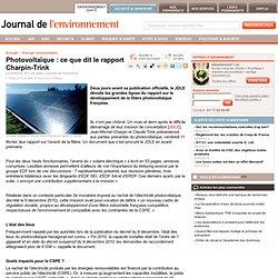 Photovoltaïque : ce que dit le rapport Charpin-Trink