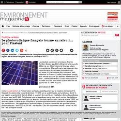 31/01/16 Le photovoltaïque français tourne au ralenti