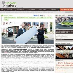 Première mondiale pour le photovoltaïque avec des panneaux solaires blancs