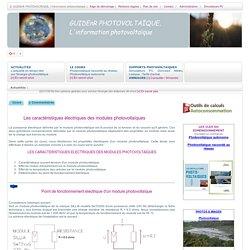 GuidEnR PHOTOVOLTAÏQUE > Point de fonctionnement électrique d'un module photovoltaïque
