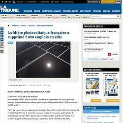 Le photovoltaïque a enregistré 7.000 pertes d'emplois en France en 2011