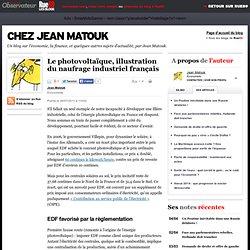 Le photovoltaïque, illustration du naufrage industriel français