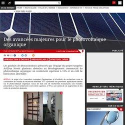 06/02/17 - Des avancées majeures pour le photovoltaïque organique