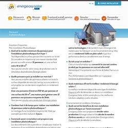 Tout savoir sur le photovoltaïque et les panneaux solaires