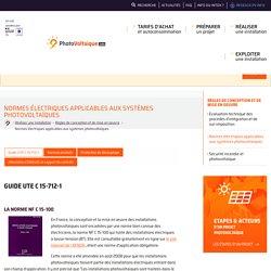 Photovoltaique.info - Normes électriques applicables aux systèmes photovoltaïques