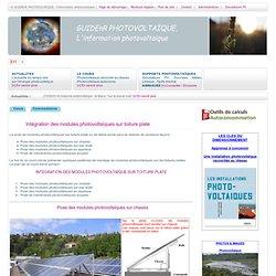 PHOTOVOLTAÏQUE > Intégration des modules photovoltaïques sur toiture plate