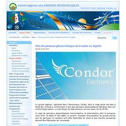 Prix du panneau photovoltaïque de Condor en Algérie
