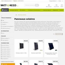 Panneaux solaires photovoltaïques - Wattuneed