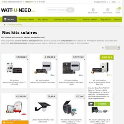Kits solaires photovoltaïques - Wattuneed