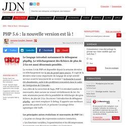 PHP 5.6 : la nouvelle version est là!