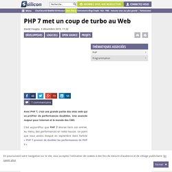 PHP 7 met un coup de turbo au Web
