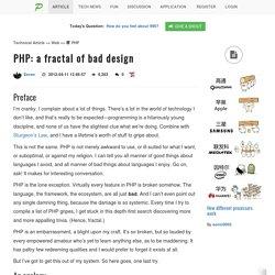 PHP: a fractal of bad design