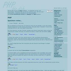PHP für dich - Arrays und die Verwendung von foreach